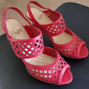 Red CutOut Style Heels